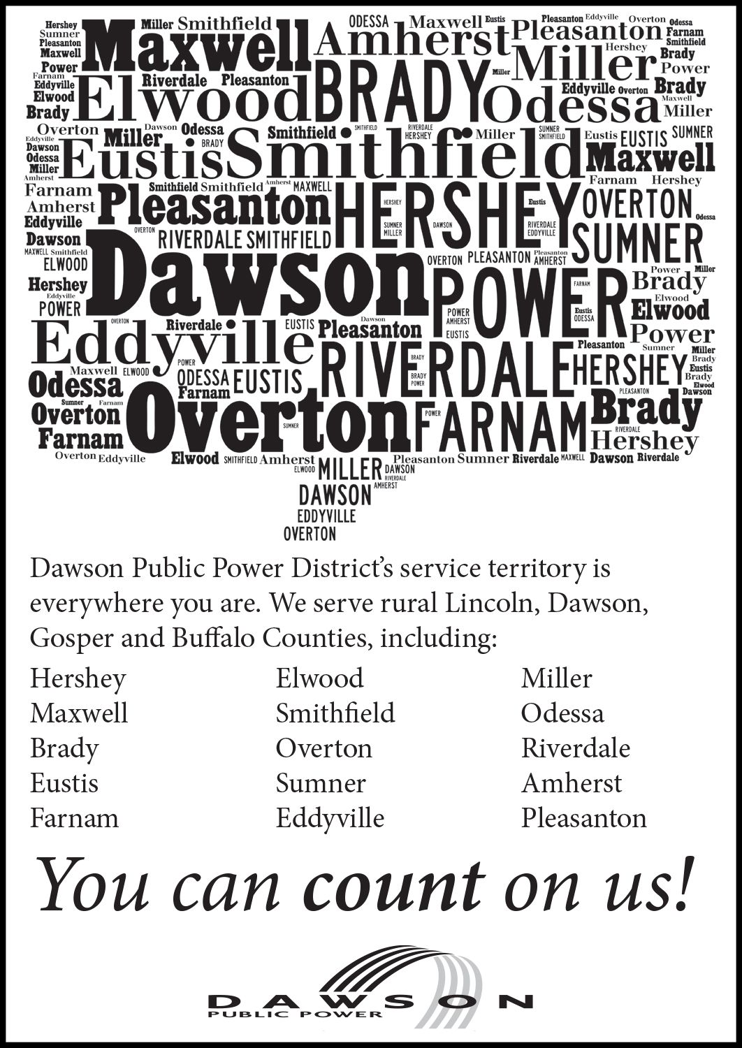 We Are Everywhere You Are Dawson Public Power District You Can