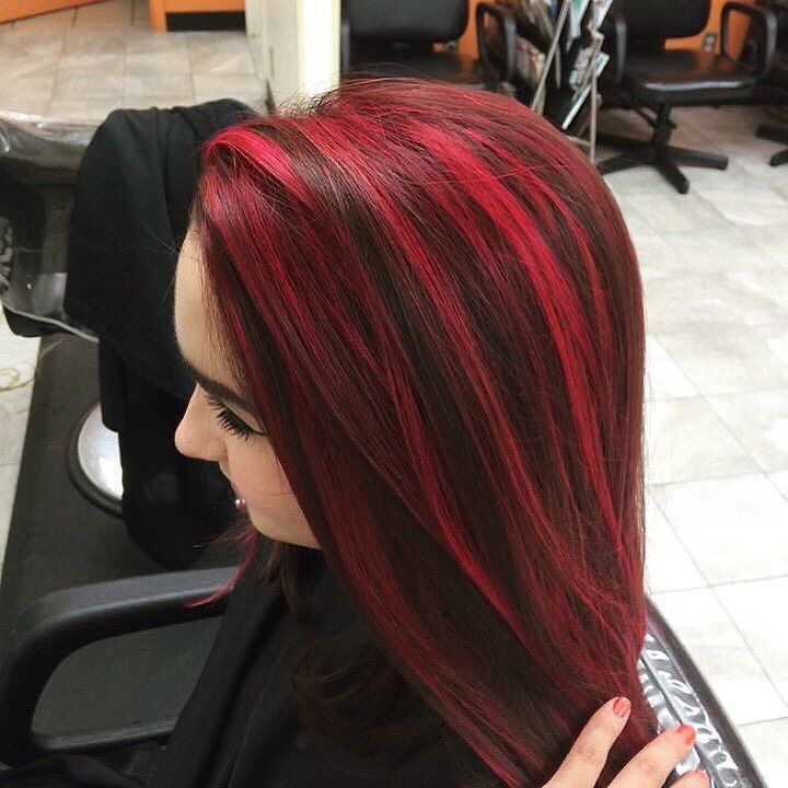 70 Sensational Red Highlights Styles Flames In Your Hair Ash Blonde Highlights Black Red Hair Red Hair With Highlights