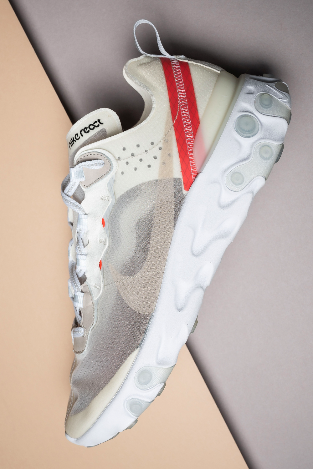 "Nike React Element 87 ""Sail"" AQ1090 100 in 2020 Wedges"
