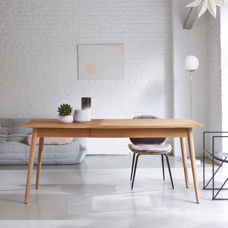 Table Salle A Manger En Teck 180 X 80 Cm Mobilier Sejour Tikamoon Teak Dining Table Wood Dining Table Dining Table