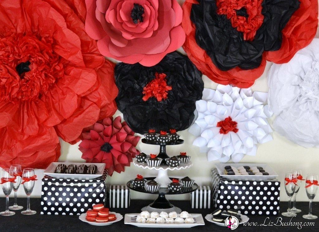 Dessert Table Ideas White Party Theme Red Birthday Party Red