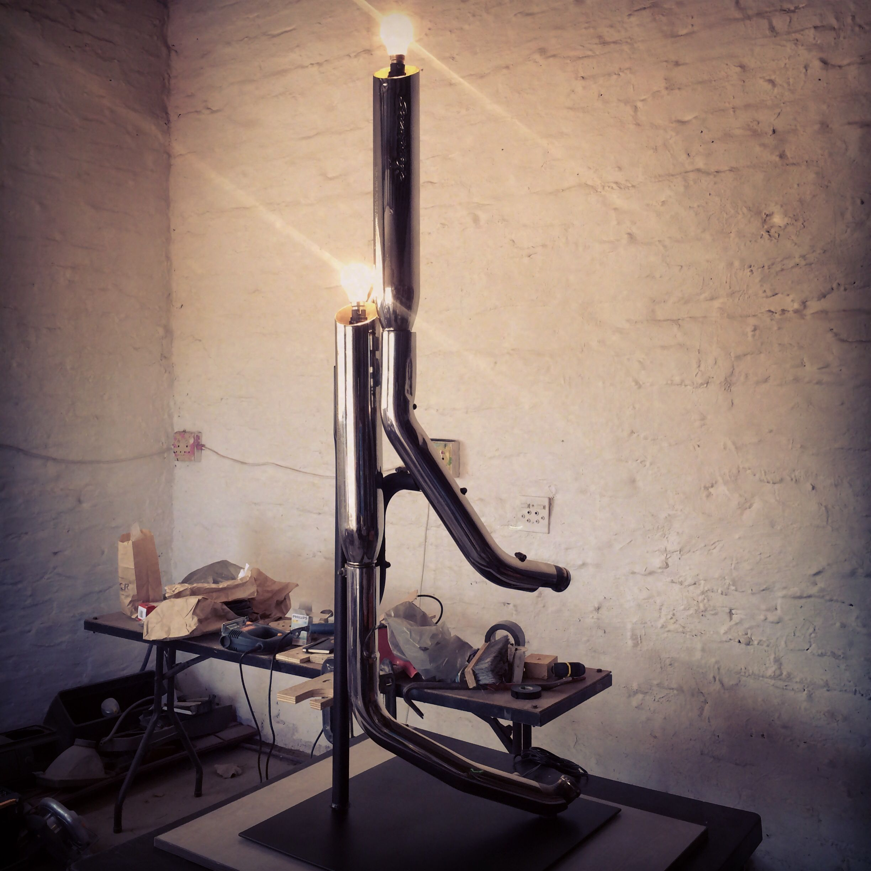 One off custom Harley Davidson exhaust lamp I've just