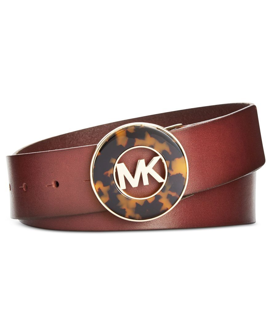 Michael Michael Kors Faux Tortoise Plaque Wide Belt