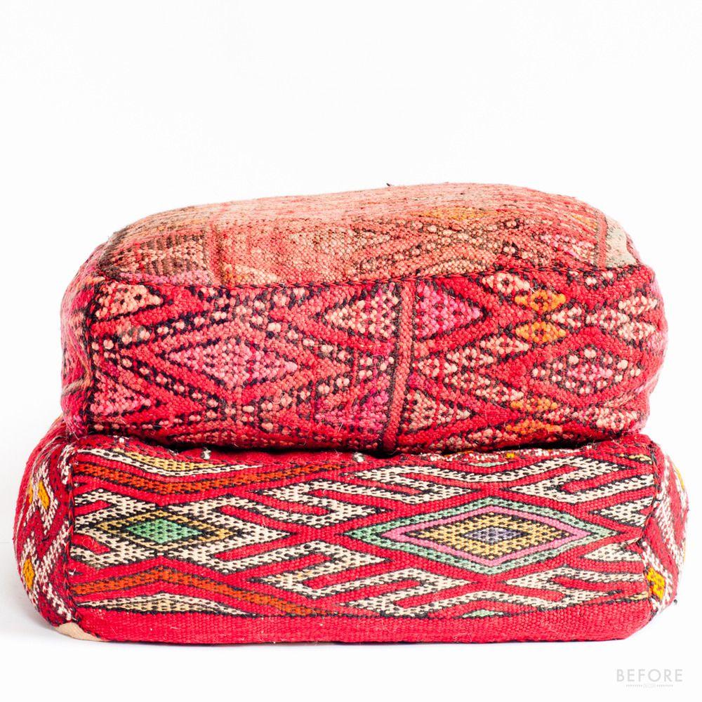 kilim floor cushion Moroccan floor pillows, Moroccan