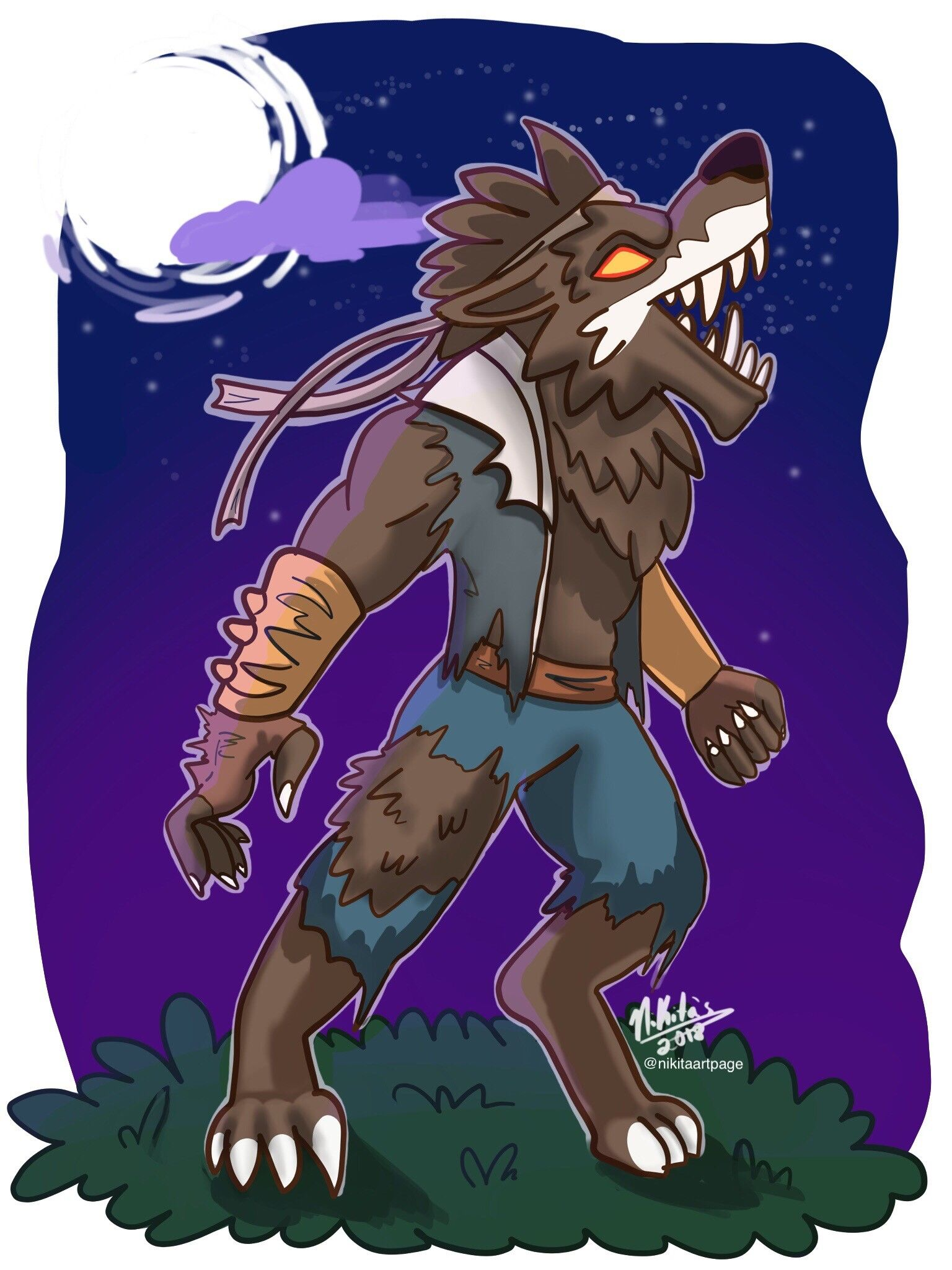 Artstation Fortnite Werewolf Fanart Nicole Davila Fan Art