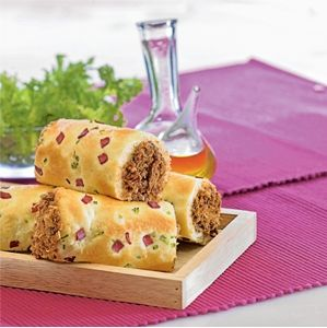 Roti Gulung Abon Bogasari Roll Floss Buns Rotis Resep Roti Makanan Manis