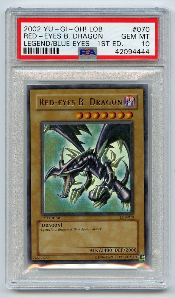 YuGiOh 1st Edition Legend of Blue Eyes Ultra Red-Eyes B  Dragon LOB