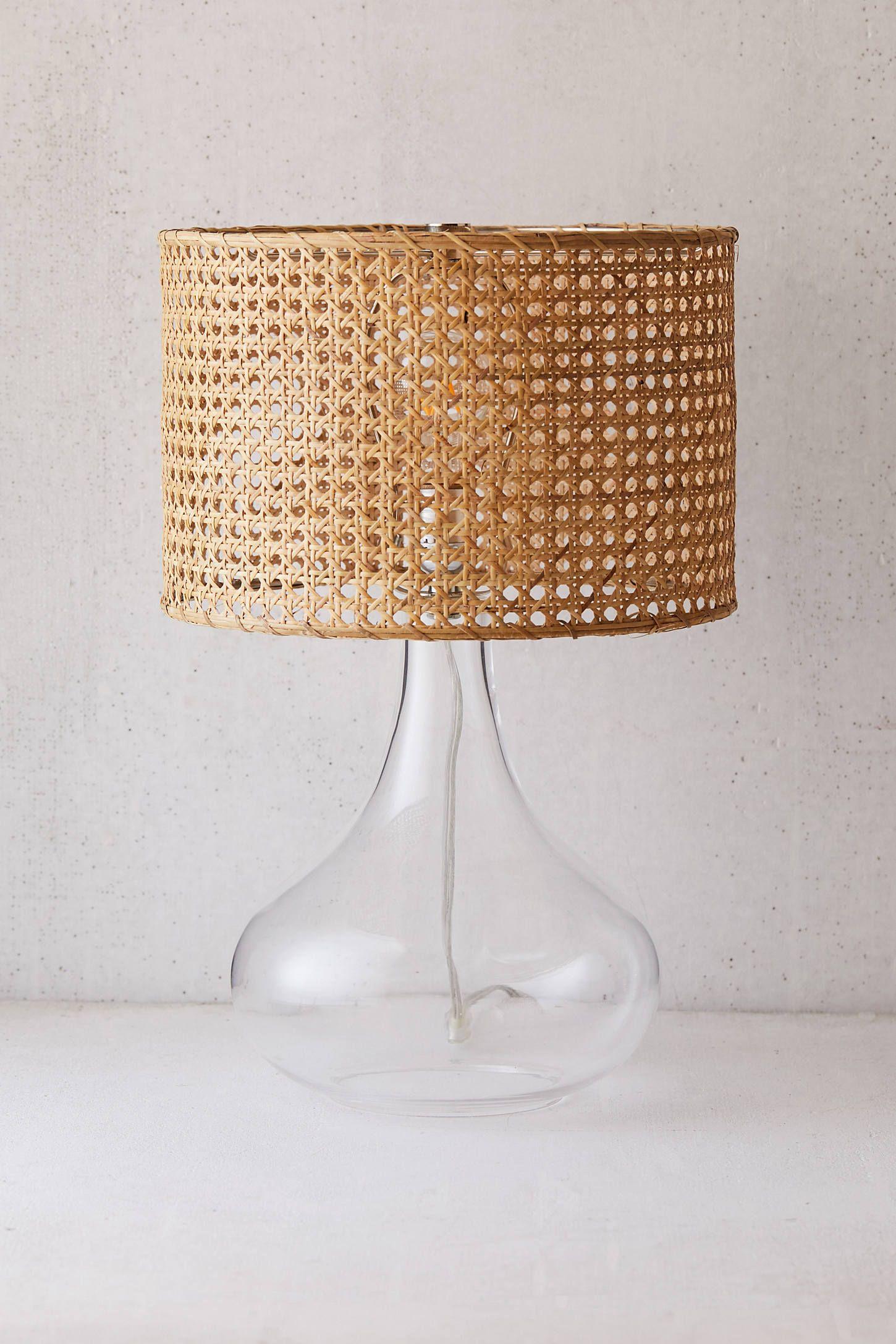 Lexi Rattan Table Lamp Rattan Lamp Diy Table Lamp Table Lamp