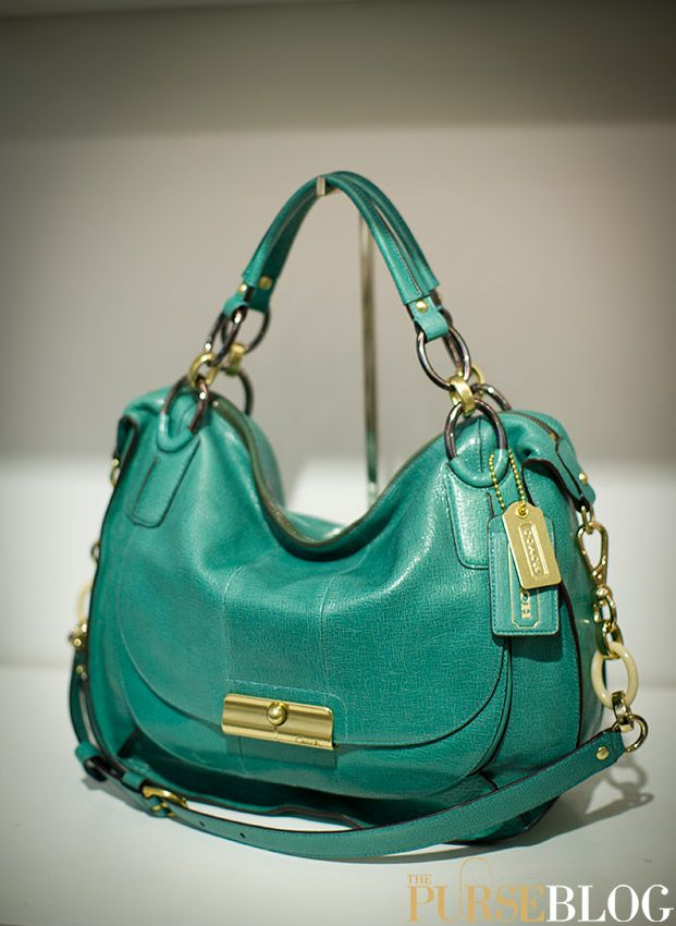 Coach Kristin Leather Hobo - $298 Love the color! Wish it was ...