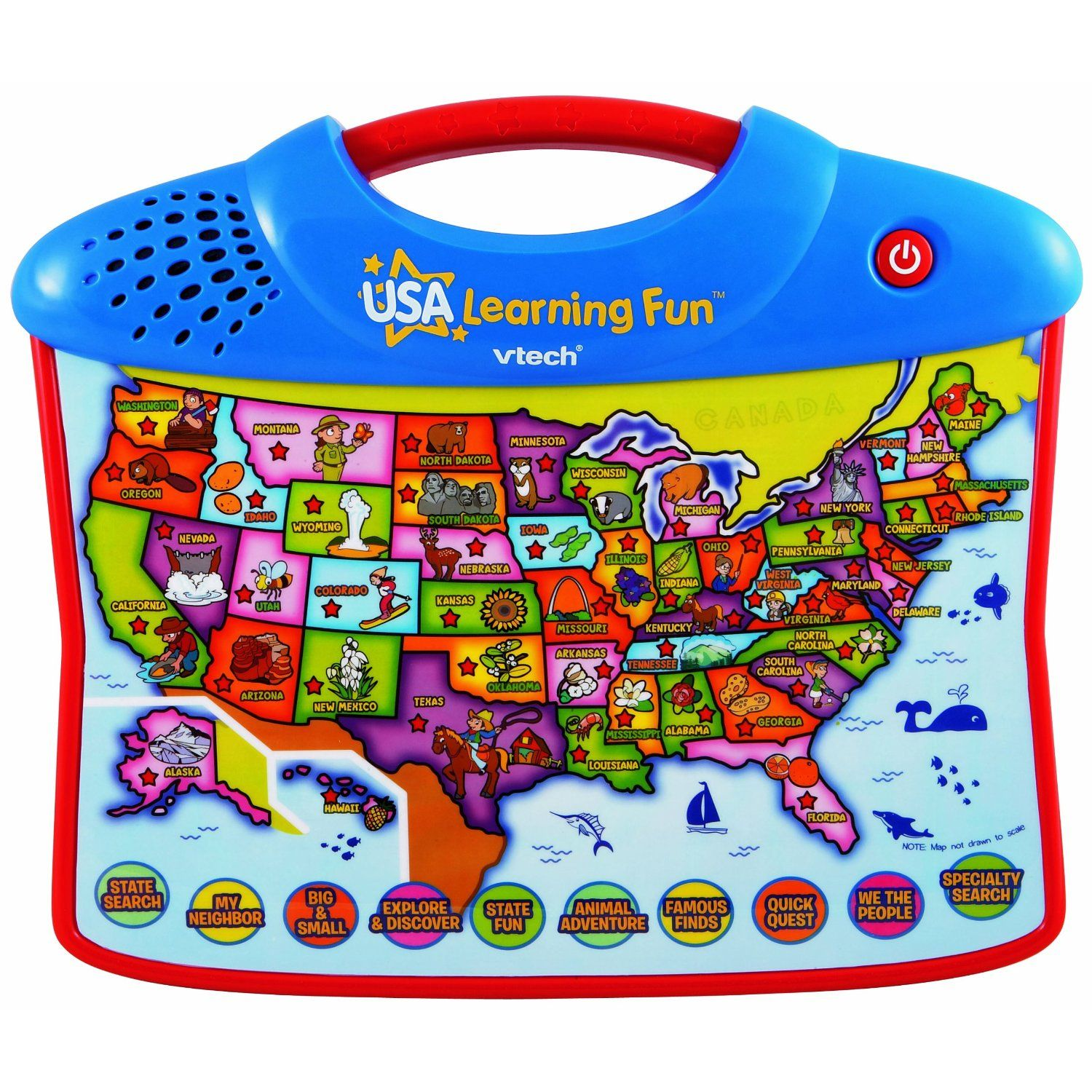 Vtech USA Explore And Learn Map Teaches Geography And Fun Facts - Interactive us map for kids
