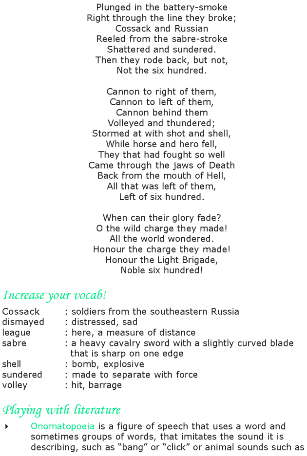 the charge of the light brigade poem pdf