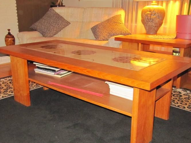 Tile Tables Retro Teak Coffee Table With Tile Inlay For Sale In - Coffee table with tile inlay