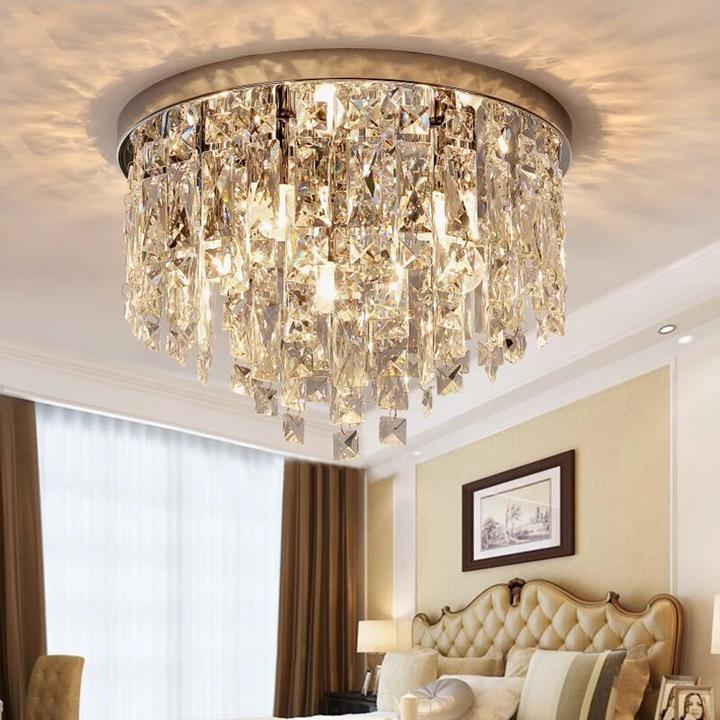 Modern Led Crystal Pendant Lights For Bedroom Corridor Kitchen Crystal Strip Nordic Pendant Lamp Industrial Living Room Light In 2020 Modern Crystal Chandelier Living Room Lighting Room Lights