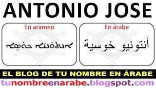 Antonio Jose En Arameo Para Tatuajes Nombres Compuestos Nombres En Arabe Nombres