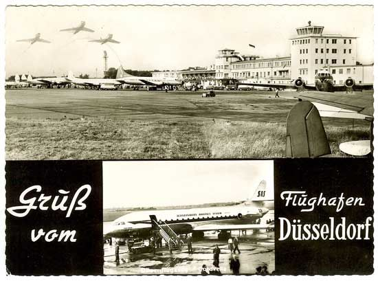 Famgus Aviation Postcards SAS Scandinavian Airlines
