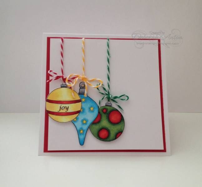 BS-Ornanments CYDI by beadn - Cards and Paper Crafts at Splitcoaststampers  Christmas Baubles by LilyPink Designs found at www.canyoudigiit.com