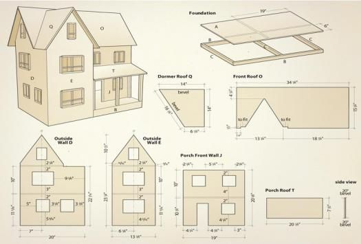 dollhouse illustration1 diy dollhouse pinterest