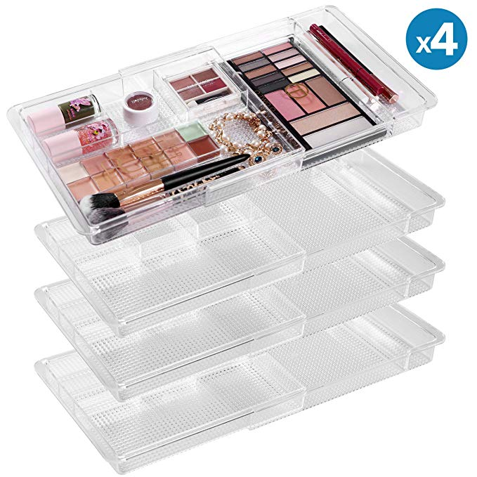 Amazon Com Moma Expandable Makeup Organizer 11 X 7 7 X 1 2 Adjustable Makeup Brush Organ Makeup Brush Organization Makeup Organization Bathroom Organization
