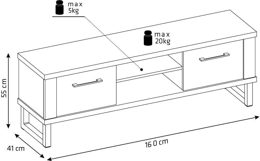 LOFT Chest of drawers RTV 2D wotan oak