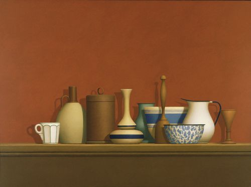 "William Bailey ""Mercatale Still Life"" 1981. Oil and wax on canvas;   30 x 40""; MOMA collection"