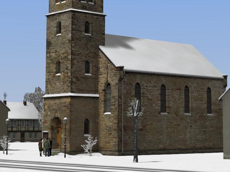 Dorfkirche-Winter. Ab #EEP8 http://bit.ly/Dorfkirche-Winter