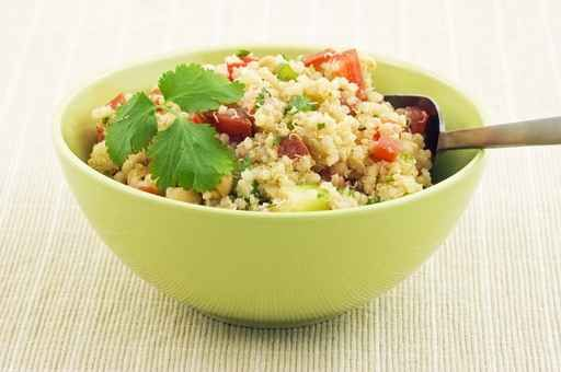 Hearty Roasted Vegetable and Kaffir Lime Quinoa Salad with