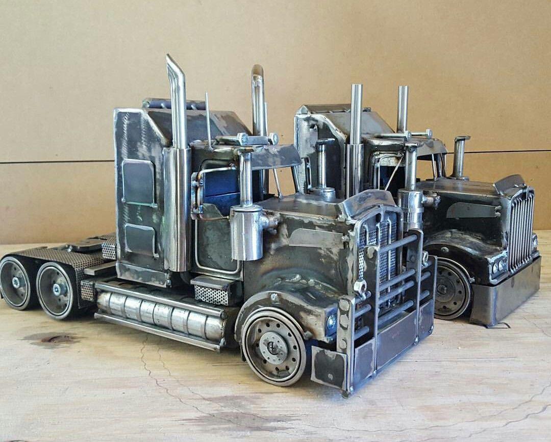 Metal semi truck welding projects pinterest semi for Metal craft trailers parts