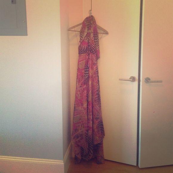 Aqua long silk dress Worn to 2 weddings and that's it, in great shape, flattering, long, and elegant Aqua Dresses