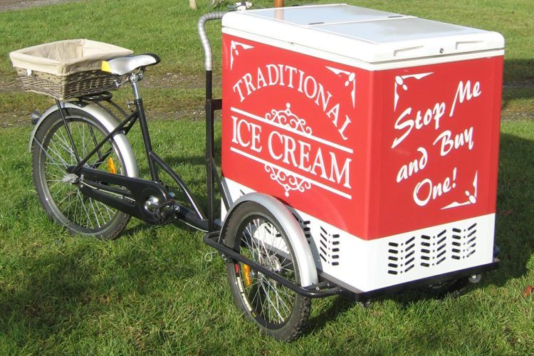 Traditional Ice Cream Bike Business on Bikes in 2020