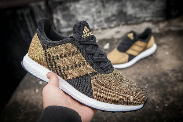 cheap for discount 89743 f3769 Adidas Futurecraft Tailored Fibre Boost Gold Black White UK Trainers  2017 Running Shoes 2017