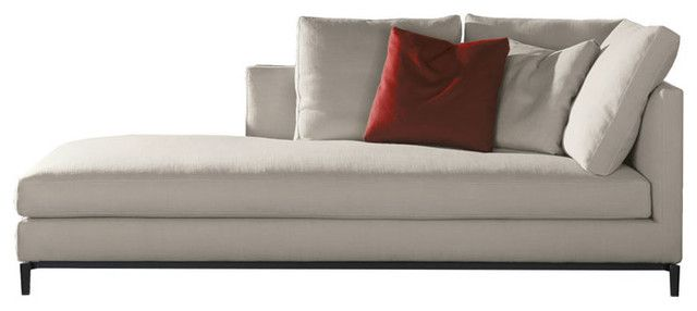 Fabulous modern chaise lounge minotti andersen slim chaise for Chaise contemporary