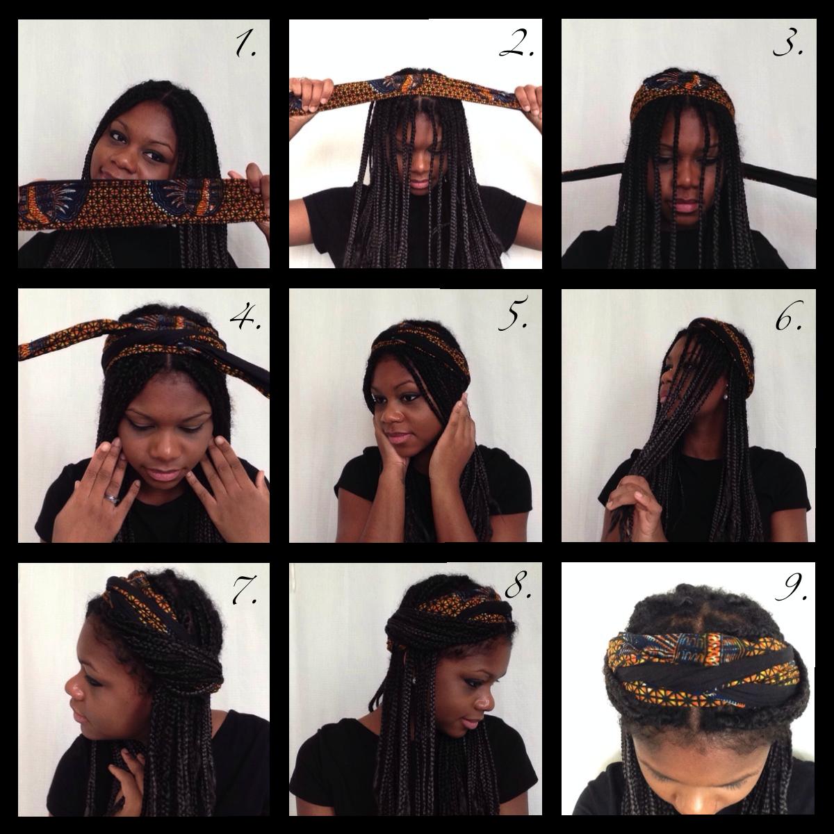 Tuto foulard \u0026 box braids ^^ Tuto Foulard, Coiffure Facile, Idées De  Coiffures