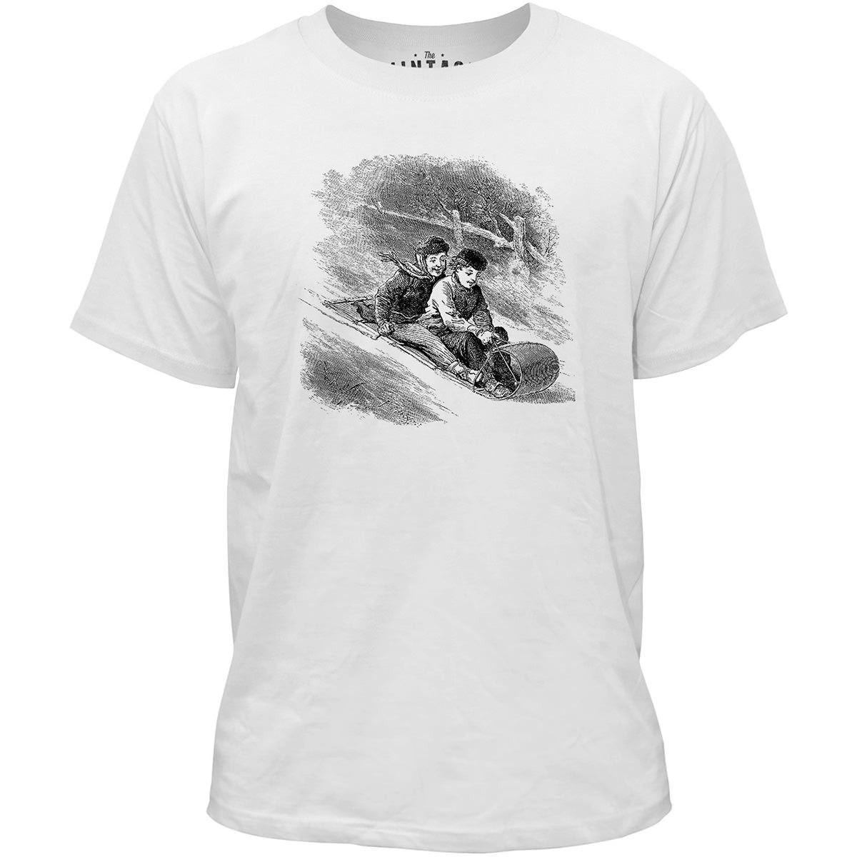 Mintage Snow Toboggan Kids Fine Jersey T-Shirt