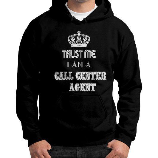 Call center agent Gildan Hoodie (on man)
