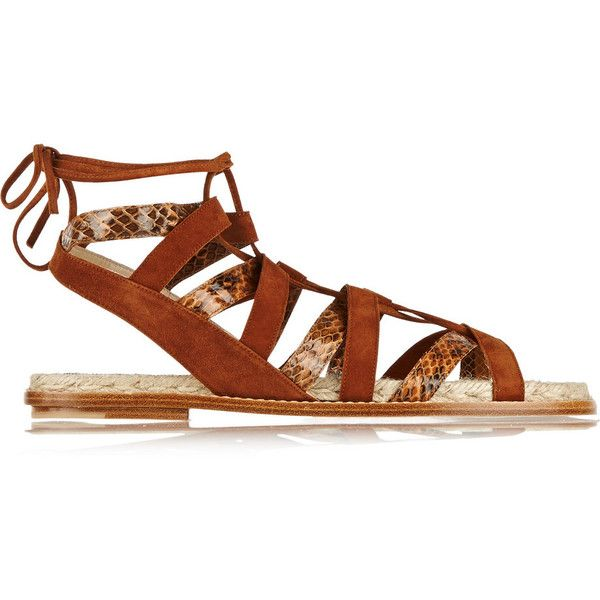f2c03df3064 Paul Andrew Tempest suede and elaphe sandals