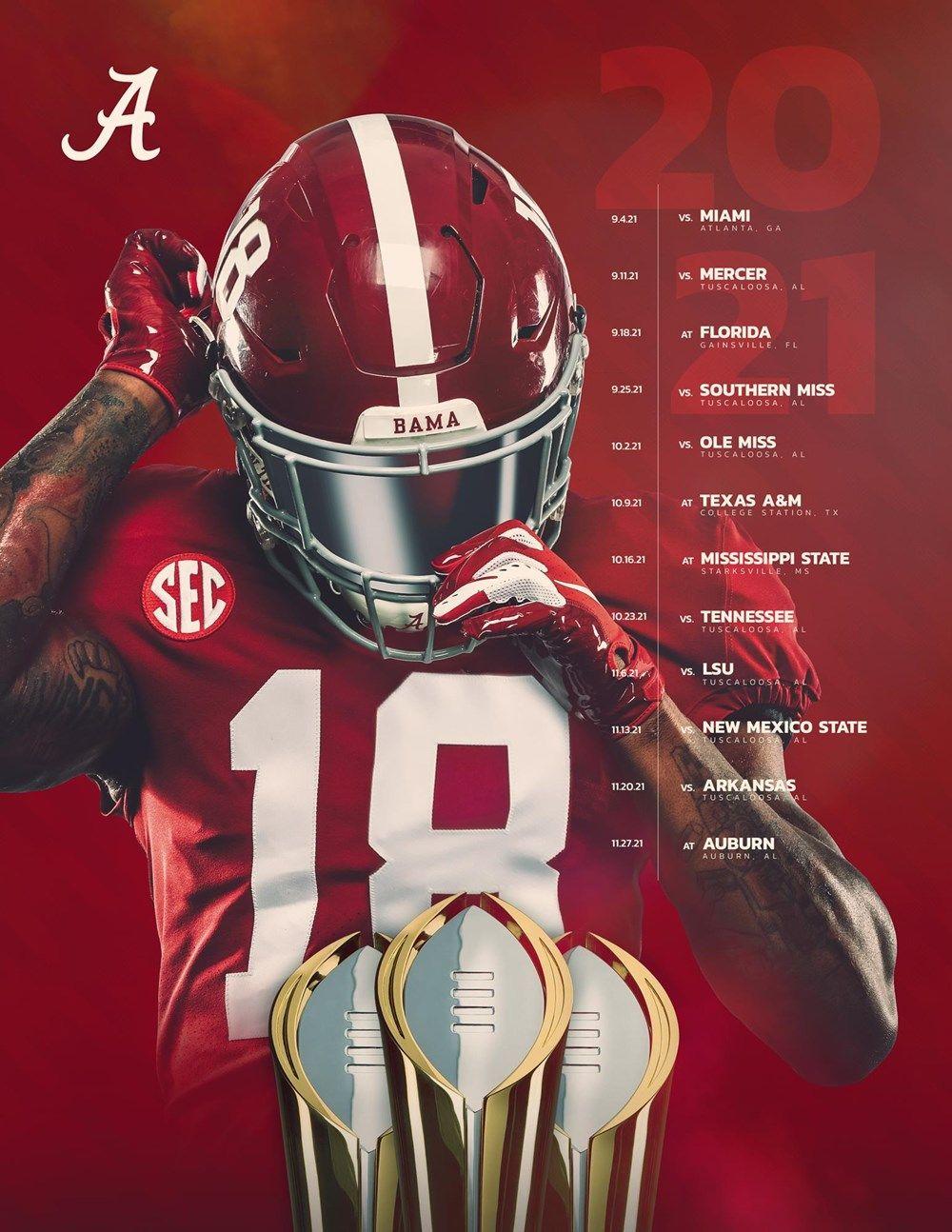 Football Announces 2021 Schedule University Of Alabama Athletics In 2021 Alabama Crimson Tide Crafts Alabama Athletics Alabama Crimson Tide Football