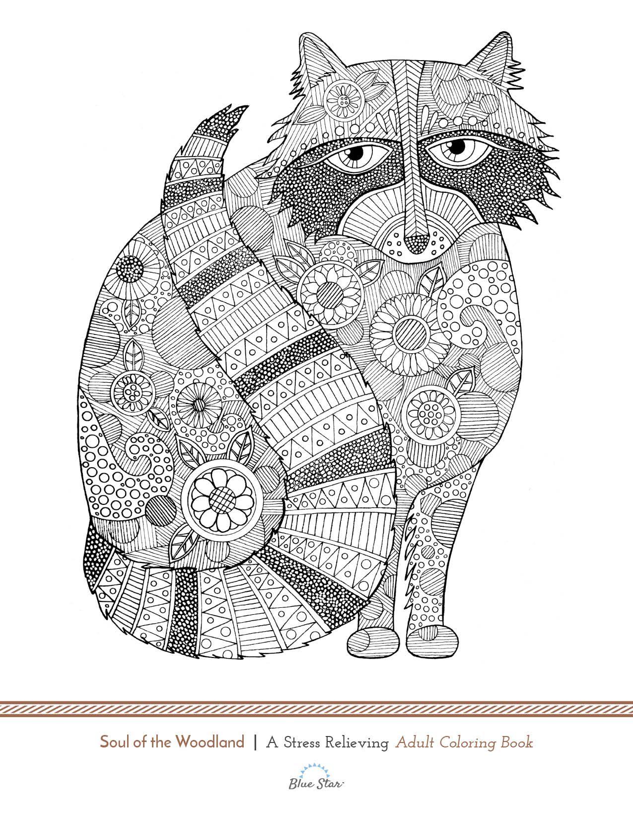 Forest Creatures Come A Live In This Adult Coloring Book Want Preview Simply