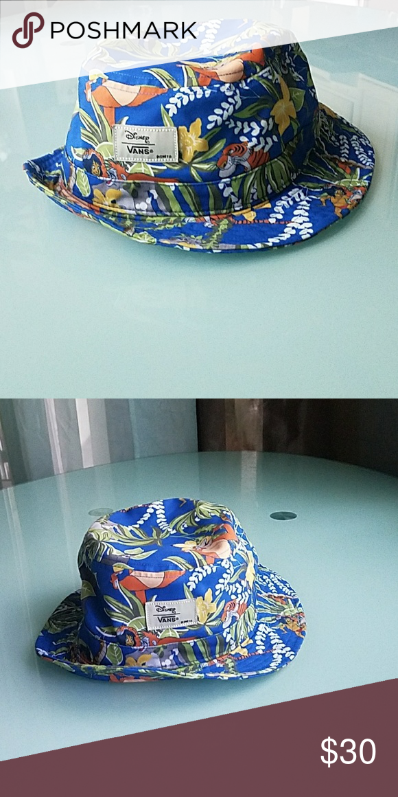 VANS X JUNGLE BOOK Bucket Hat Blue bucket hat with the Jungle Book printed  on it. Great Condition! Great for any Disney lover 🏰✨🎀🐭😍 make me an  offer ... 2eaebe9f0ae