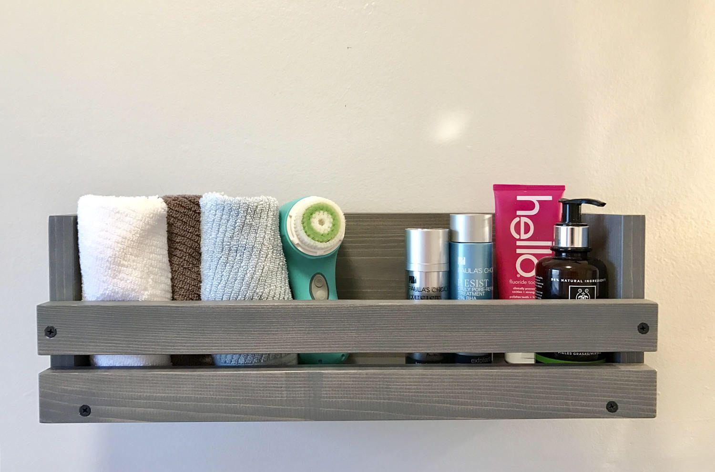 Bathroom Wood Shelf, Different length options shelf Bathroom ...