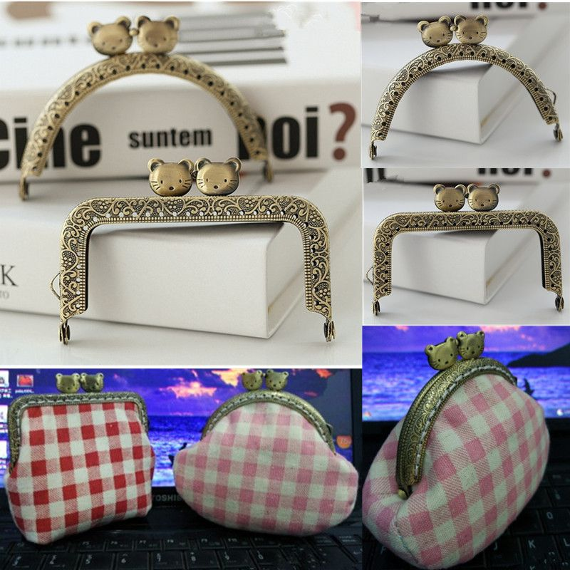 find more bag parts accessories information about 85cm cat shape vintage frame kiss crochet handbag metal purse frame clutch clasp diy bags accessoires - Metal Purse Frames