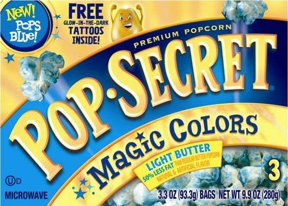 Pop Secret Colored Popcorn Must Find