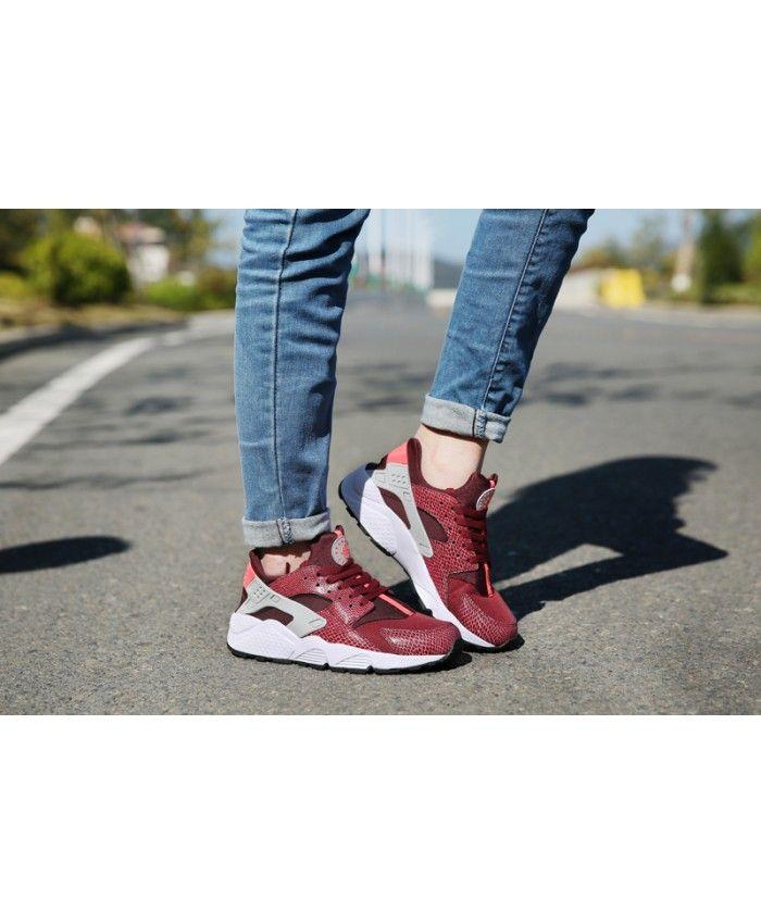 3cdd642089051 Nike Air Huarache Junior Burgundy Trainers