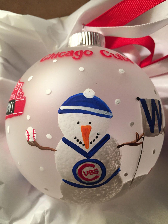Chicago Cubs ornament by meganelene on Etsy https//www