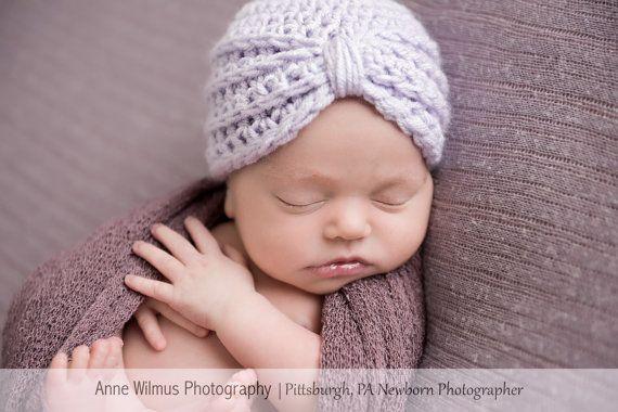 be787e6c911cf Baby Girl - Turban Hat - Infant Girl Hats - Newborn Girl Beanies ...