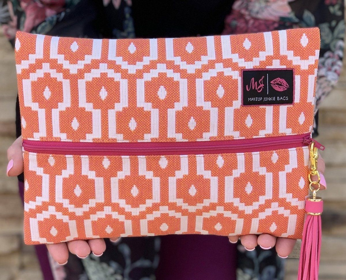 MakeupJunkie BagPink Citrus Coral pink, Makeup junkie