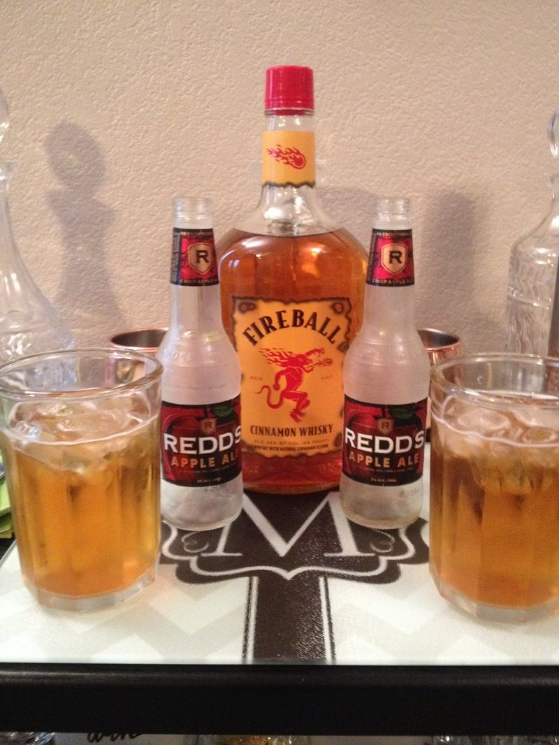 Apple Fire: Fireball and Redd's apple ale | Cocktails in