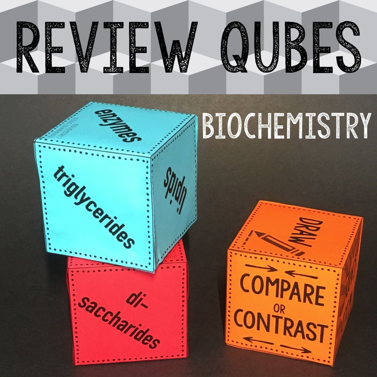 biochemistry review qubes life science teaching biology and ap review qubes are the latest craze for your biology class this biochemistry review game uses