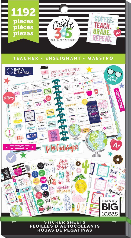 1486//Pkg Create 365 Happy Planner Sticker Value Pack-Everyday