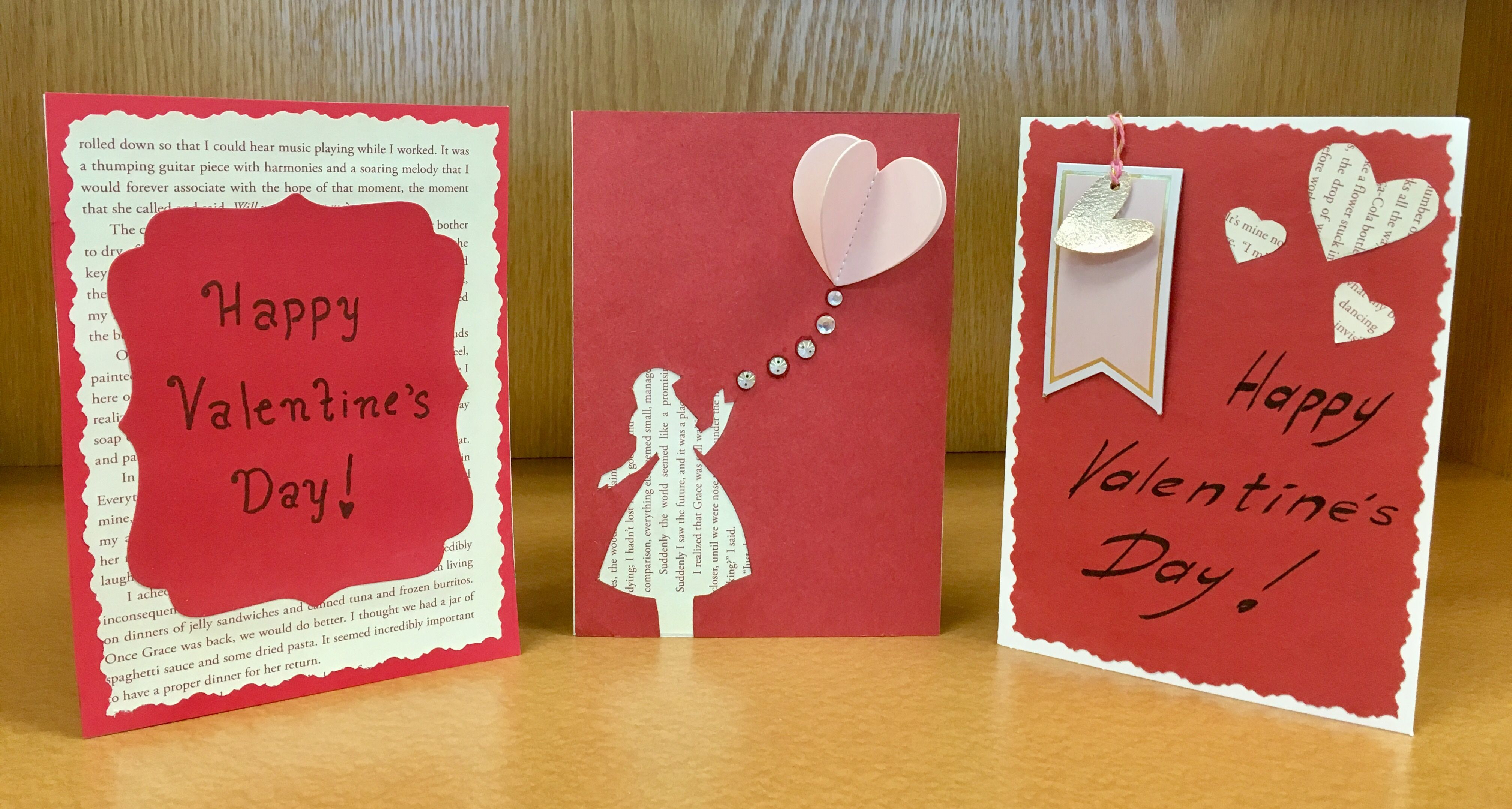 literary valentine's day card craft  create your own