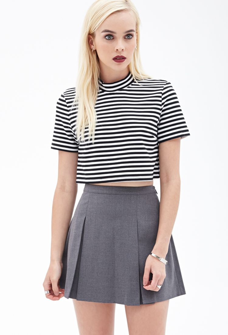 38f7b41ccc7 Pleated Mini Skirt | FOREVER21 - 2000059289 So much like a topshop one I  wanted.